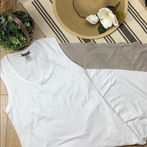 Tommy Bahama white symmetrical  maxi dress